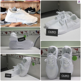 Giày Adidas NMD nam full trắng full hộp size 40 - 43