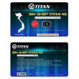 Sim ghép TITAN 4G For iPhone 5 ,6 ,7+ Lock